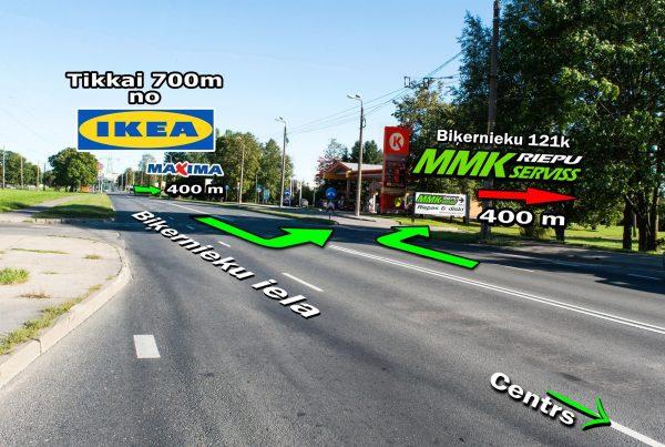 kā nokļūt mmk serviss mmk riepu serviss jaunas riepas riepu montāža biķernieku iela 121k mūkusalas iela 72d