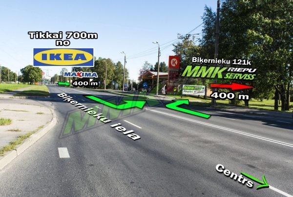 Mmk serviss Biķernieku iela karte