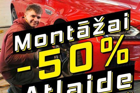 Atlaide montāžai -50%!