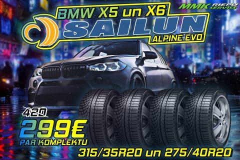 BMW X5 ziemas riepas Sailun